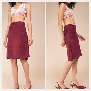 Dresses & Skirts - Burgundy Corduroy Skirt